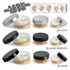 Cosmetic Empty Jar Pot Eyeshadow Makeup Face Cream Container  New Twist  Sifter