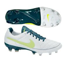 Nike Women's Tiempo Legacy FG Soccer Cleats (White/Night Factor/Volt)  Size 11.5