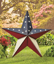 Americana Star Decor Metal Wall Hanging Stake Country Rustic Indoor Outdoor