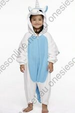 Kids Blue Unicorn Onesie