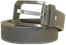 """Men's Casual Gray Leather 1.5"""" Inch Wide 8 Holes Dress Belt S/M/L/XL NEW"""
