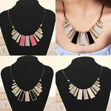 Hot Fashion Pendant Chain Crystal Choker Chunky Statement Bib Necklace Jewelry