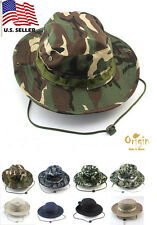 Mens Cotton Bucket Hat Boonie Hunting Fishing Outdoor Cap Military Camo Sun Hat