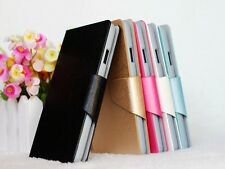 Silk Veins PU Leather Flip Stand Wallet Case Cover For ZTE Blade L3