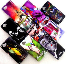 SONY XPERIA L L36H WATER PRINT GLOSSY SILICON BACK CASE COVER