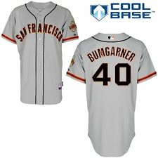 Madison Bumgarner SF Giants Jersey 2014 World Series Patch Stitched Sz M- XXL