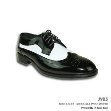 Jean Yves New Dress Shoe JY03 Wing Tip Two Tone Tuxedo Wedding Prom Formal Event