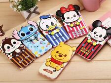 Cute Cartoon Leather Wallet Case Minnie Chip Cover For Samsung HTC ASUS Sony