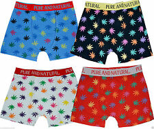MENS NEW 12 Pairs DESIGNER BOXER SHORTS LEAF GANJA WEED DESIGN COTTON LYCRA S-XL