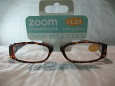 Zoom Impressions Brown or Green Marble Reading Glasses +1.25 1.50 2.00 2.50