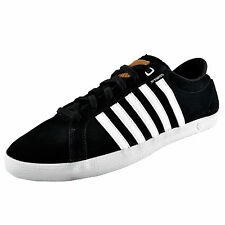 K Swiss Mens All Court II Classic Leather Casual Retro Trainers Black *AUTHENTIC