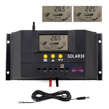 Sun YOBA 30/60/80A 12V/24V Solar Charge Controller Regulator + 16.4ft Cable BA