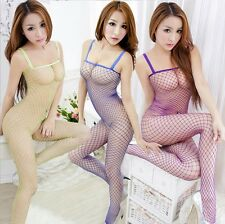 Women Sexy Erotic Lingerie Fishnet Teddy Suit Body Stocking Intimate 7 Colors