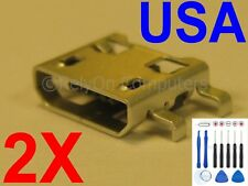 USA 2x Micro USB Charging Port Power Jack Sync Dock Connector for Tablet / Phone