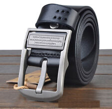 Men's Business Pin Buckle Waistband Leather Cowhide Casual Genuine Belt