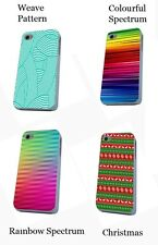Abstract rainbow spectrum weave pattern hard phone case for iPhone 6 5 samsung