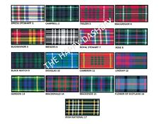 BERISFORDS TARTAN RIBBON 7MM-VARIOUS LENGTHS-FULL RANGE OF 17 DESIGNS