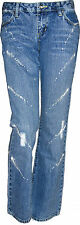 Rue 21- Ladies Denim Jeans - Light Blue- Distressed-(Boot Cut)-Size:1/2 to13/14