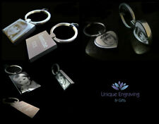 Personalised Photo Engraved Keyring - Photo side 1 / Text Side 2 Great Gift Idea