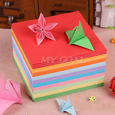 Origami Square Paper Double Sided Coloured Sheets 5/7/8/10/14.5cm Craft DIY