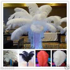 Wholesale 10-400pcs High Quality Natural white OSTRICH FEATHERS 6-24inch/15-60cm