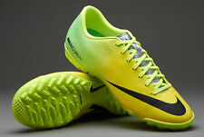 NIKE MERCURIAL VICTORY IV TF INDOOR SOCCER TURF FUTSAL CR7 SHOES Vibrant Yellow