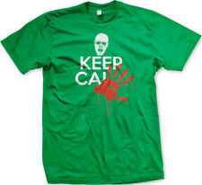 Keep Calm Zombie Blood Hand Print Dead Walking And Carry On Undead Men's T-Shirt