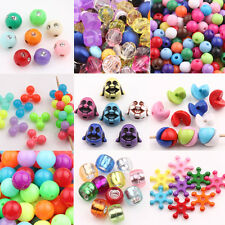 Wholesale 20/50/100Pcs Charms Acrylic Candy Color Loose Spacer Beads Finding