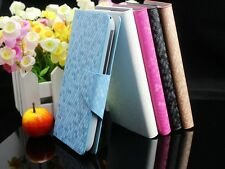 For Lenovo Luxury Diamond Grain PU Leather Flip Wallet Case Cover