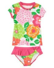 Gymboree Swim Shop Tropi-Cutie Rash Guard Floral Swimsuit 4 5 6 7 8 10 12 NEW
