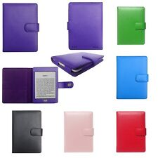 Genuine Leather Case Cover Jacket for Amazon Kindle with Touch 7th Gen 2014
