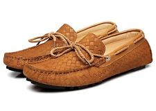 Stylish Mens Slip On Loafers suede leather casual moccasin-gommino driving shoes