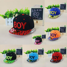 New Boys Girls Kids Hat Peaked Visor Snapback Adjustable Hip Hop Baseball Cap