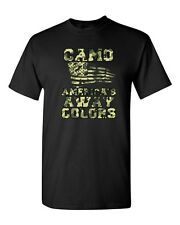 Camo America's Away Colors USA United States Patriotic DT Adult T-Shirt Tee