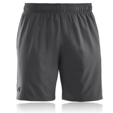 "Under Armour Mens HeatGear Mirage 8"" Inch Grey Running Bottoms Pants Shorts"