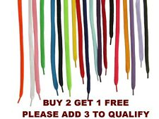 Shoelaces flat coloured pair of shoe laces trainers football boot laces string
