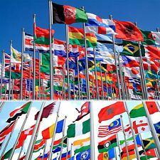 5ft x 3ft World National Country Flags Indoor Outdoor Polyester 1 Pack