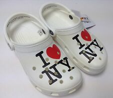 $40 Crocs I Love New York Classic Clog White  All Men & Women Size