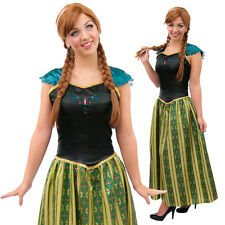 Adult Ladies Anna Coronation Fancy Dress Costume Princess with or without Wig