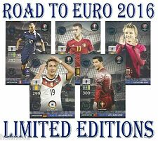 LIMITED EDITION Road To Euro 2016 Panini Adrenalyn card
