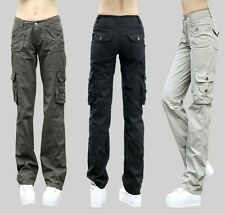 Fashion new  Womens Military overall Cargo Pocket Pants Casual Outdoor Trousers