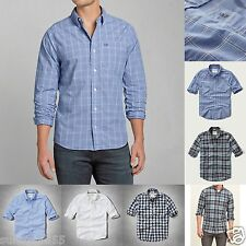 ABERCROMBIE & FITCH MEN Classic DENIM SHIRT All sizes NWT gray BLUE red WHITE