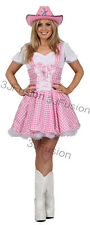 PINK COWGIRL FANCY DRESS COSTUME Dolly Parton Country Girl FREE POSTAGE