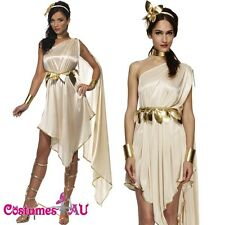 Ladies Cleopatra Costume Fever Roman Greek Goddess Toga Fancy Dress Smiffs