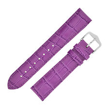 Hirsch LOUISIANALOOK Alligator Embossed Leather Ladies Watch Strap in FUCHSIA