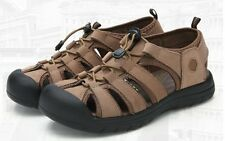 Mens fisherman leather outdoor hiking Sport Sandals casual Beach sneaker Shoes