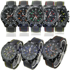 Luxury Black Stainless Steel Luxury Sport Analog Quartz Men's Wrist Watch