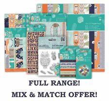 OWL FOLK Papermania Woodland Paper Card Craft Collection FULL DOCRAFTS RANGE!