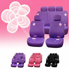 Exquisite Floral Full Set Car Seat Covers Supports Airbag & Split Benches