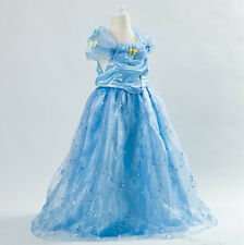 Kids Sandy Girls Princess Party Cinderella Cosplay Butterfly Gown Fancy Dress UK